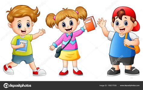 clipart bambini a scuola happy school stock vector 169 dualoro 159217530