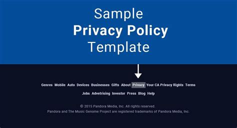 Sle Privacy Policy Template Termsfeed Website Terms Of Use And Privacy Policy Templates