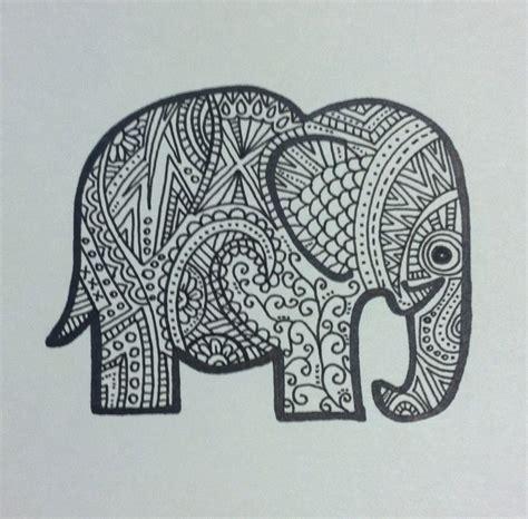 indian elephant doodle elephant doodle drawing painting elephant