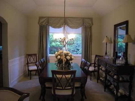window treatments traditional dining room seattle