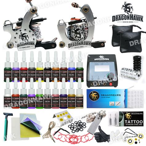 tattoo equipment to buy aliexpress com buy tattoo kit machines 2 guns 20 color