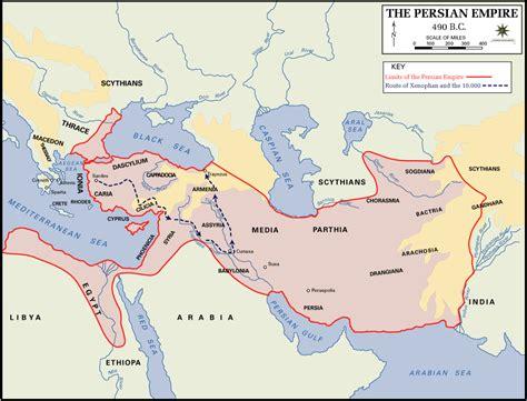 satrapie persiane map of the empire 490 bc