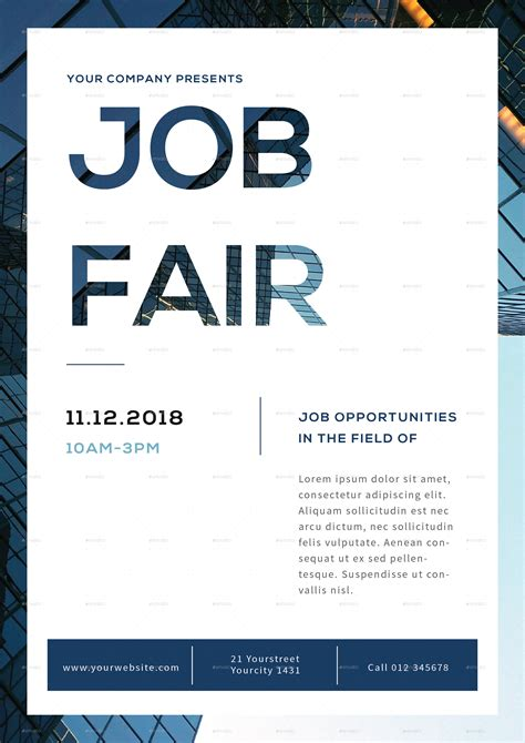 Job Fair Flyer By Infinite78910 Graphicriver Career Fair Template