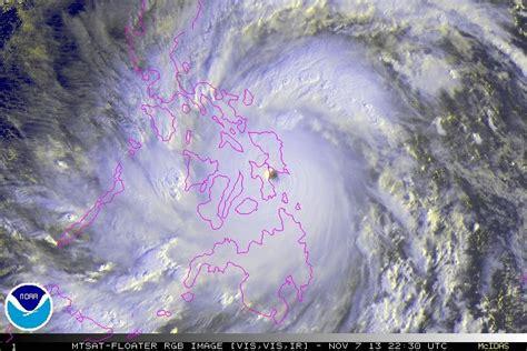 Typhoon Haiyan Satellite Images