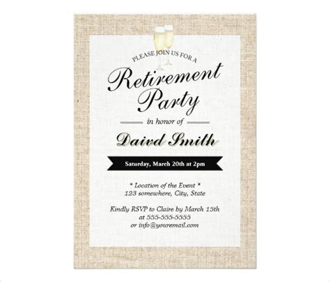 30 Retirement Party Invitation Design Templates Psd Ai Vector Eps Free Premium Templates Retirement Dinner Invitation Template