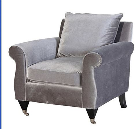 Silver Armchair by Silver Grey Velvet Armchair Furniture Sofas