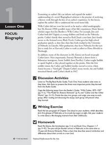biography vs autobiography lesson plan annie and the old one lesson plans worksheets reviewed