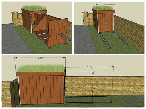 cobertizo para bicicletas c 243 mo construir un garaje para bicicletas con techo verde