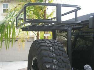 rock hard  rock rack cargo basket  rhx tire carriers jeep ebay