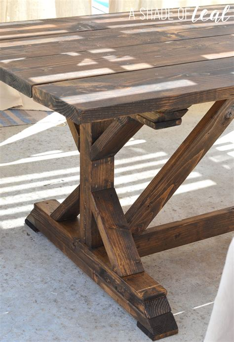 rustic outdoor table plans building a outdoor rustic farmhouse table a shade of teal