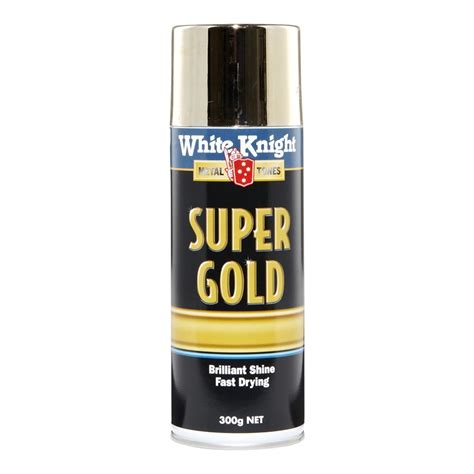 white knight super gold spray paint 300g bunnings warehouse