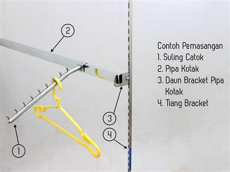 Gawangan Pipa Kotak Set Rak Hanger Suling Hanger Anak Siap Jualan display bracket pipa kotak manekin murah 0813 8830 2562