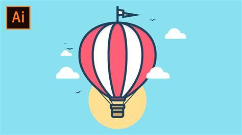 Illustrator Tutorial Hot Air Balloon | adobe illustrator tutorial how to create a hot air