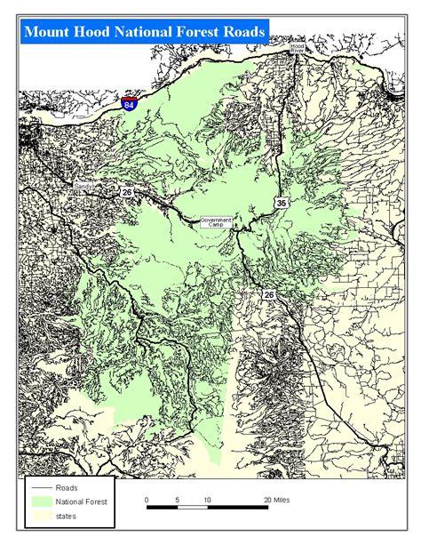 service oregon oregon forest service road maps oregon map