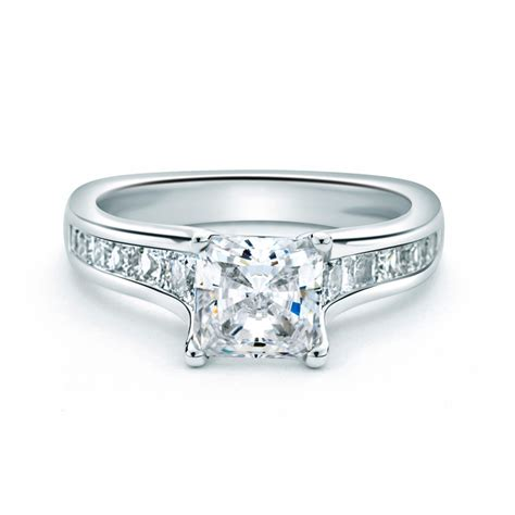 forevermark four prong princess cut engagement
