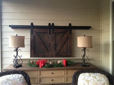 Barn Door Tv Cover by Barn Doors Tv Custom Sized And Finished Www