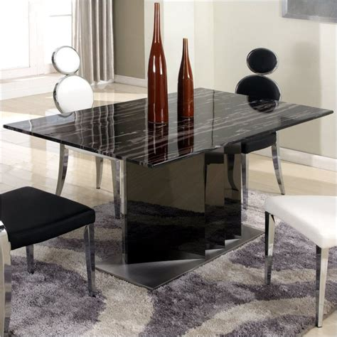 solid marble dining table chintaly oprah solid marble top stainless steel dining