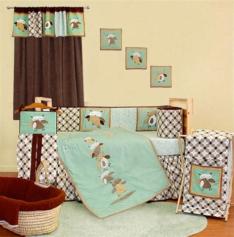 Crib Bedding Owls Baby Boy Owl Nursery Bedding Thenurseries