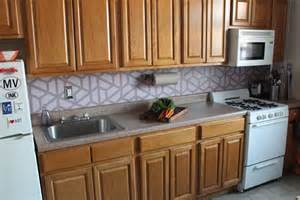 how to paint a geometric tile kitchen backsplash handpaint a kitchen backsplash hgtv
