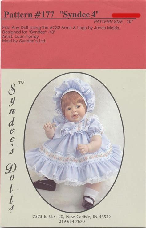 doll emporium pattern company syndee 4 baby dress pattern for a 10 porcelain baby doll