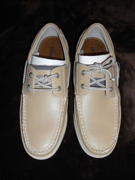 jarman boat shoes casual mens size 9 5 color slip on