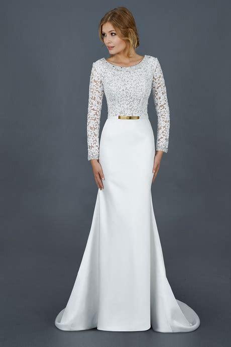 robe mariage civil manche longue
