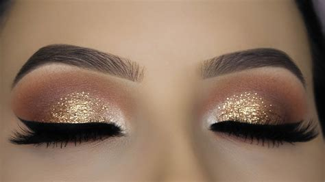 Eyeshadow Gold Tutorial gold glitter eye makeup tutorial www pixshark