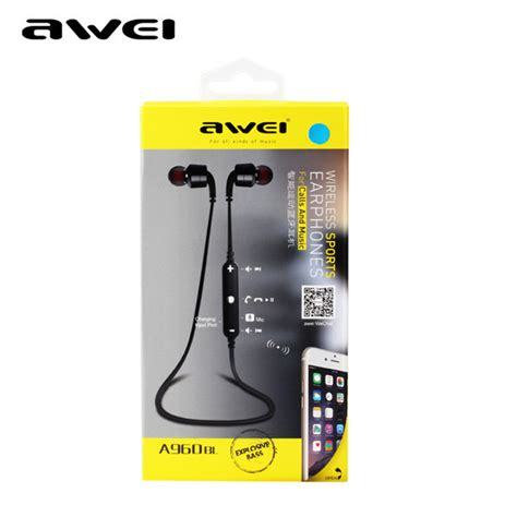 Awei Smart Wireless Headset Earphone N3 awei a960bl wireless bluetooth 4 0 sweatproof headset stereo handfree sport earphone headphone