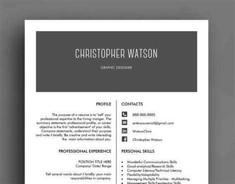 clear cv template 33 best cv template resume template design and usability