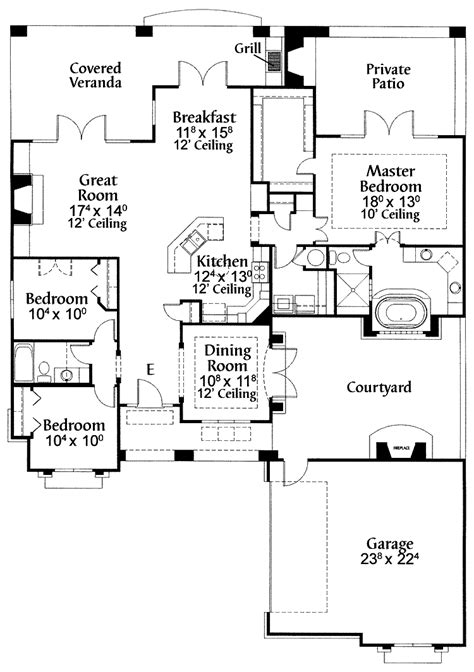 pueblo house plans pueblo style house floor plans wood floors