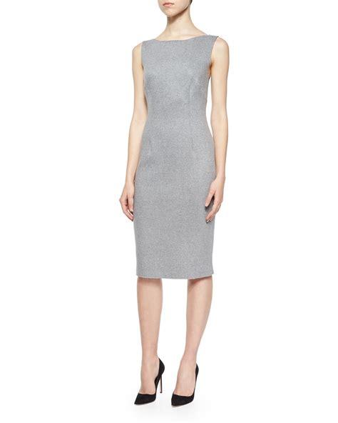lyst sleeveless reversible sheath dress in gray