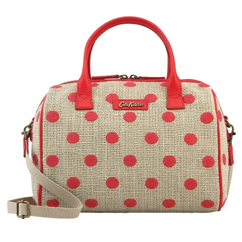 button spot embroidered bowler bag accessories from
