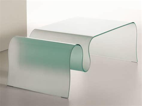 table basse en verre de salon onda by italy design