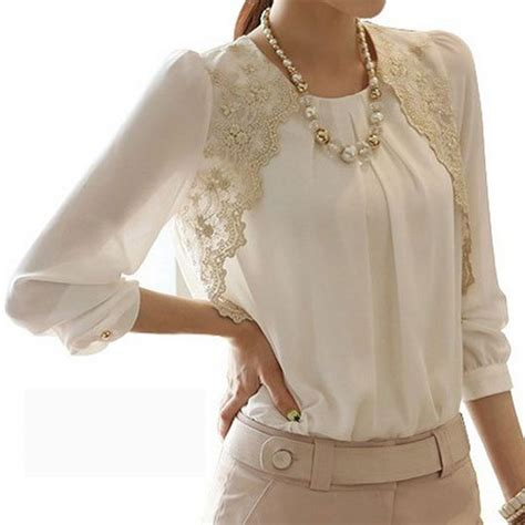 Color Render Casual Top 24084 new 2017 fashion autumn elegent lace