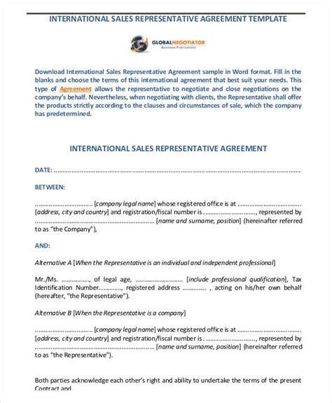 32 Sales Agreement Form Template International Sales Commission Agreement Template