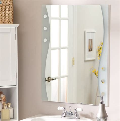 frameless bathroom mirror home interiors