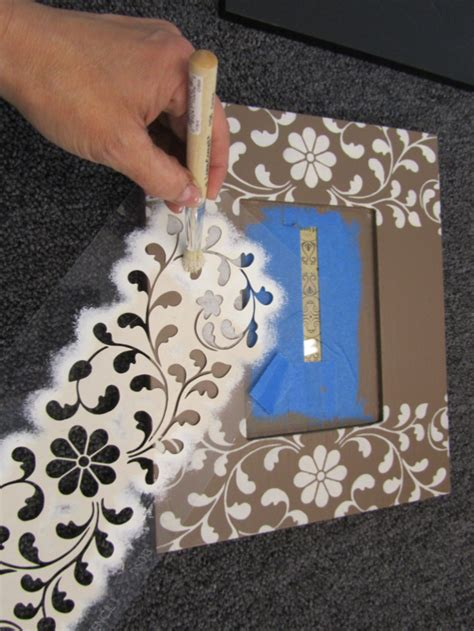 11 best frames images on pinterest stencil frames and stenciling a picture frame in four easy steps stencil