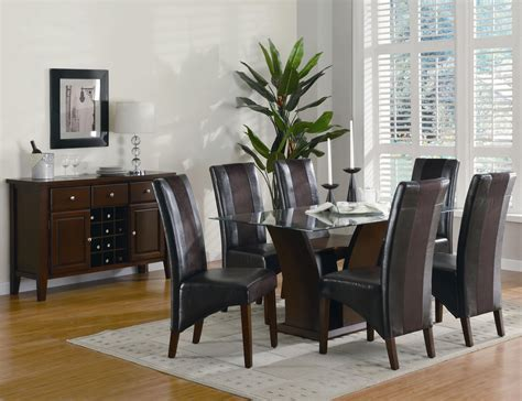 glass dining table chairs sets stylish modernglassdiningtableset modern dining set with black wood table