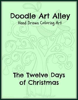 free doodle ebook twelve days of coloring ebook a take