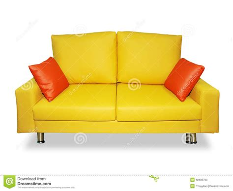 how to clean sofa pillows clean yellow sofa and pillows stock photos image 10486793