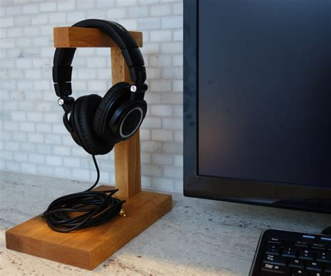 Handmade Headphones - wood headphone stand the classic headphone holder