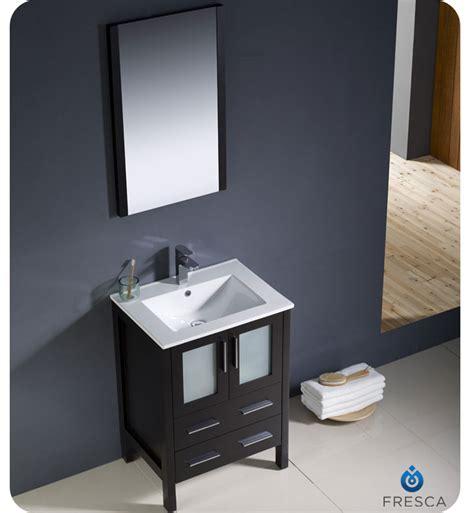 Undermount Sink Bathroom Vanity by 24 Quot Fresca Torino Fvn6224es Uns Modern Bathroom Vanity W Undermount Sink Espresso