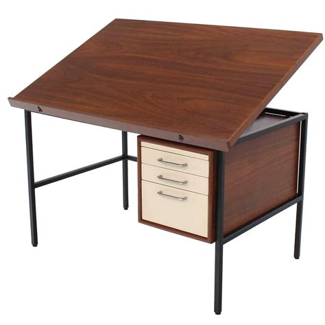 walnut lift top desk drafting table for sale at 1stdibs