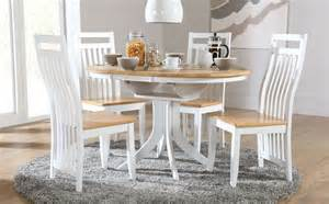 White Dining Room Tables And Chairs Hudson White Two Tone Extending Dining Set Only 163 329 99 Furniture Choice