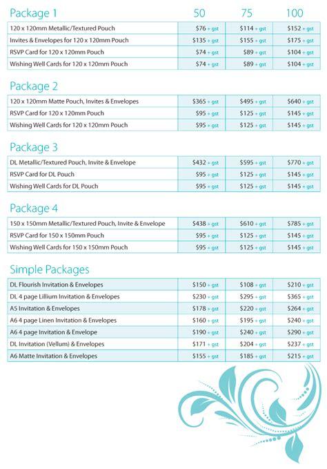 wedding invite prices printed wedding invitations city printing works