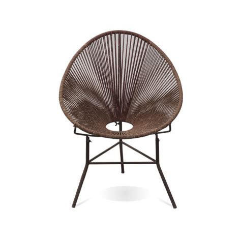 olivia acapulco chair brown industrial chic style