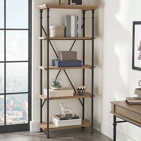 better homes and gardens river crest 5 shelf bookcase