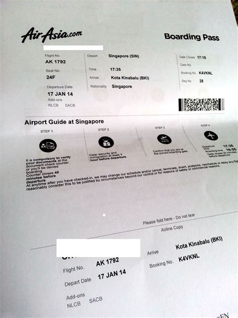 airasia group check in review of air asia flight from singapore to kota kinabalu