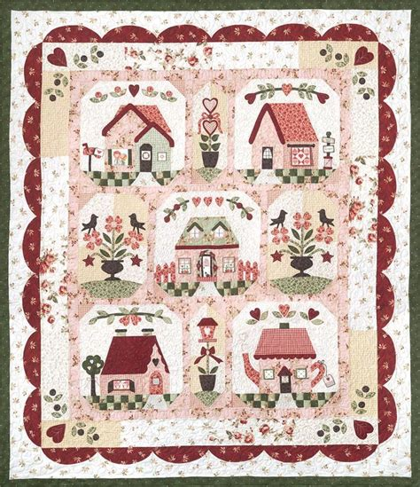 quilt pattern home is where the heart is follow your heart house bird flower valentines day quilt