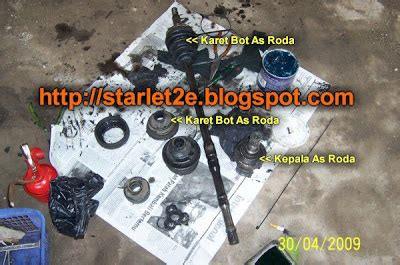 Karet Boot As Roda Starlet toyota starlet ganti bot as roda